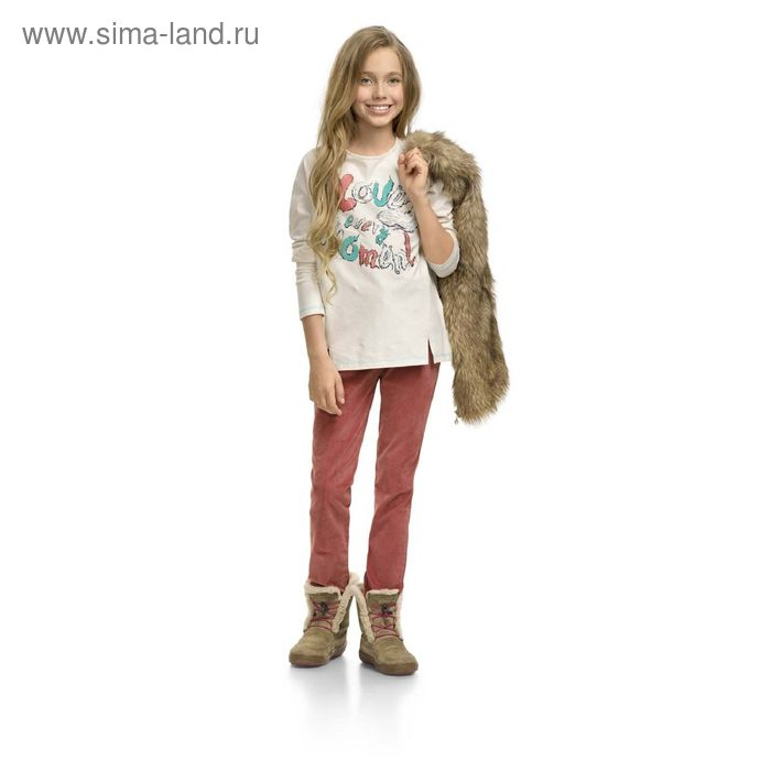 Джемпер для девочек, 9 лет, цвет Молочный GJR4003