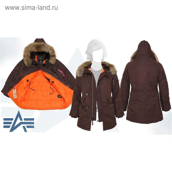 Куртка утеплённая женская N-3B W Parka Alpha Industries Cocoa, натуральный мех, M