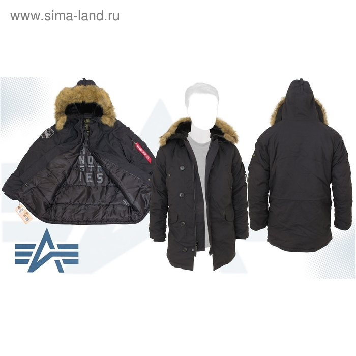 Куртка утеплённая Altitude Parka Alpha Industries Black, 2XL