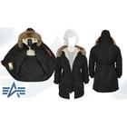 Куртка утеплённая женская Elyse Alpha Industries Black, натуральный мех, S