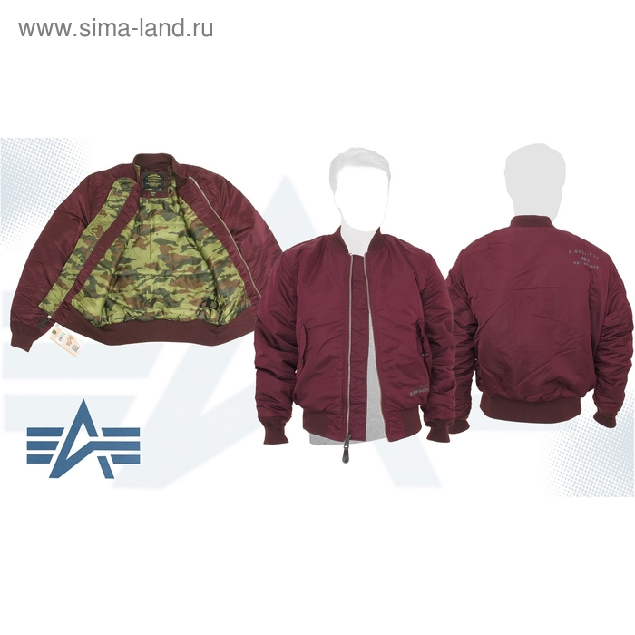 Куртка утеплённая Valor Flight Jacket Alpha Industries Maroon/Camo, M