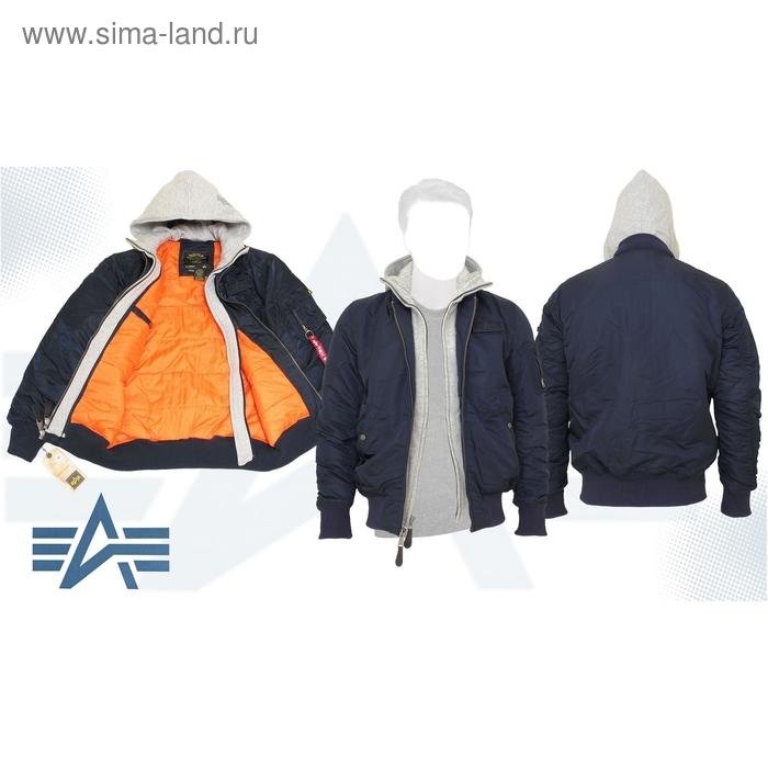Куртка утеплённая MA-1 D-Tec X Alpha Industries Replica Blue, S