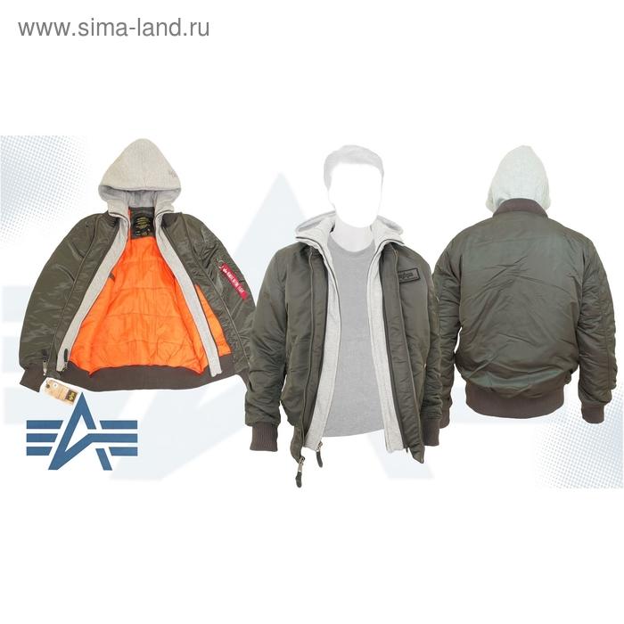 Куртка утеплённая MA-1 D-Tec X Alpha Industries Replica Grey, 2XL
