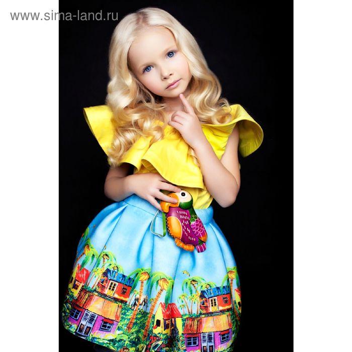 Юбка для девочки Afrika, рост 140 см, цвет голубой Л16-ЮБ-1410_Д
