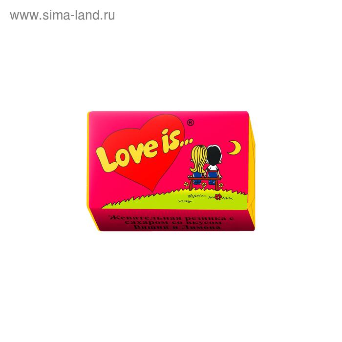 Жевательная резинка Love is, вишня и лимон, 4,2 г