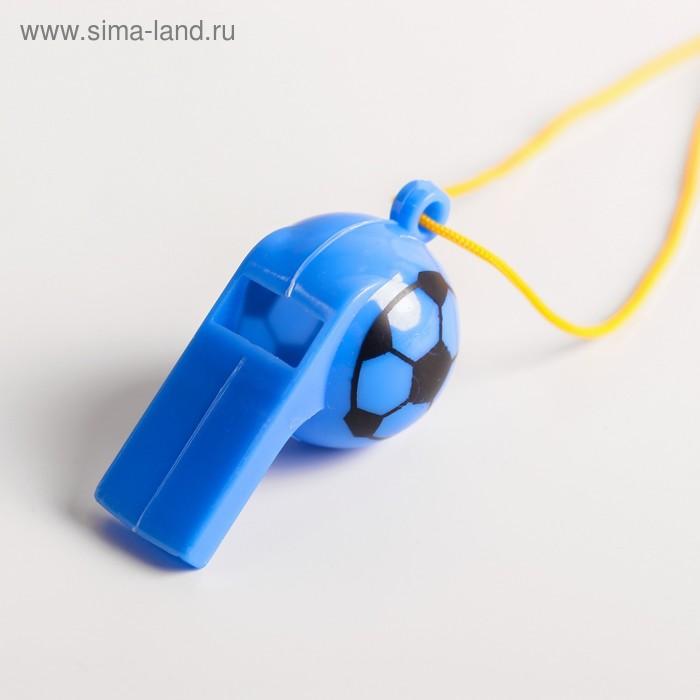"""Свисток """"Футбол"""" с веревочкой, цвета МИКС"""