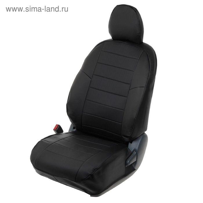 Авточехлы для Ford Focus 3 Ambiente/Trend, 2011-, черный, экокожа