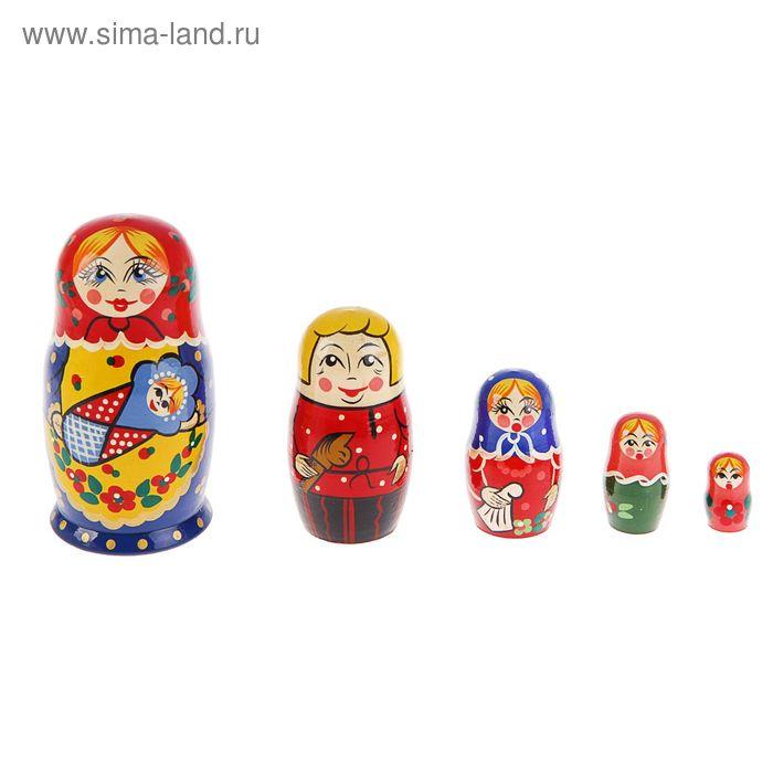 Матрешка 5 кукольная художественная  с ребенком
