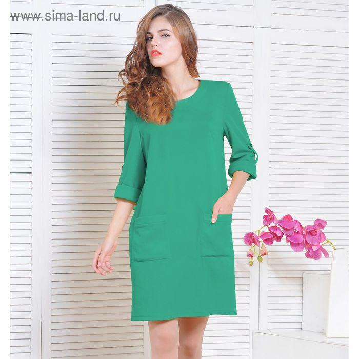 Платье 5135 С+, размер 52, рост 164 см, цвет зеленый