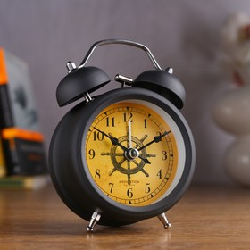 "Alarm clock ""Wheel"", d=8 cm, black"
