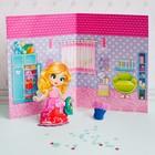 """Набор для лепки """"Кукольный домик"""" с игровым фоном+7 цветов пластилина по 10 гр, стека"""