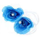 Набор роз для декора, цвет голубой
