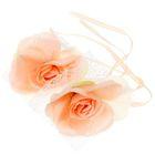 Набор роз для декора, цвет светло-персиковый