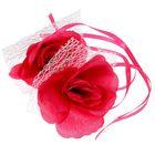 Набор роз для декора, цвет фуксия