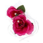 Набор роз для декора, цвет пурпурный