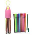 Фломастеры, 12 цветов, в пластиковом тубусе с ручкой, вентилируемый колпачок, МИКС