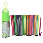 Фломастеры, 24 цвета, в пластиковом тубусе с ручкой, вентилируемый колпачок, МИКС