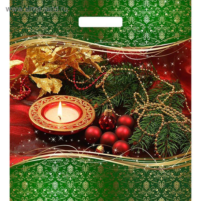 """Пакет """"Новогодняя симфония"""", полиэтиленовый с вырубной ручкой, 45х38 см, 60 мкм"""