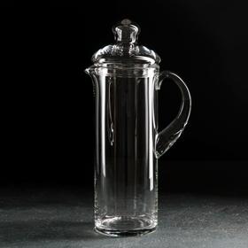 Кувшин НЕМАН «Прозрачный», 1,2 л, с крышкой