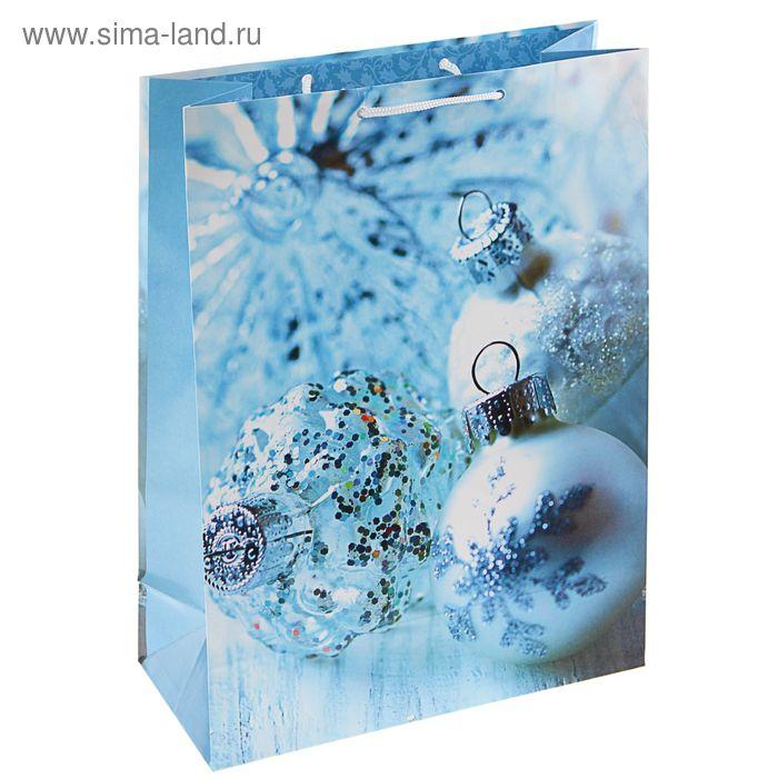 """Пакет подарочный """"Шарики-фонарики"""", 14.5 х 11.5 х 6.5 см"""