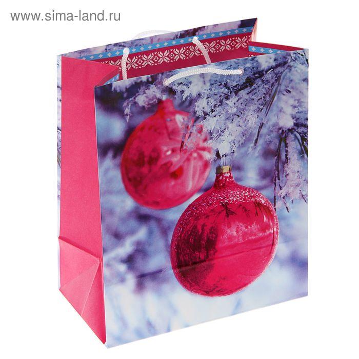 """Пакет подарочный """"Зеркальный шар"""", 36 х 26 х 11.5 см"""