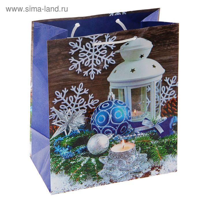 """Пакет подарочный """"Зимний свет"""", 36 х 26 х 11.5 см"""