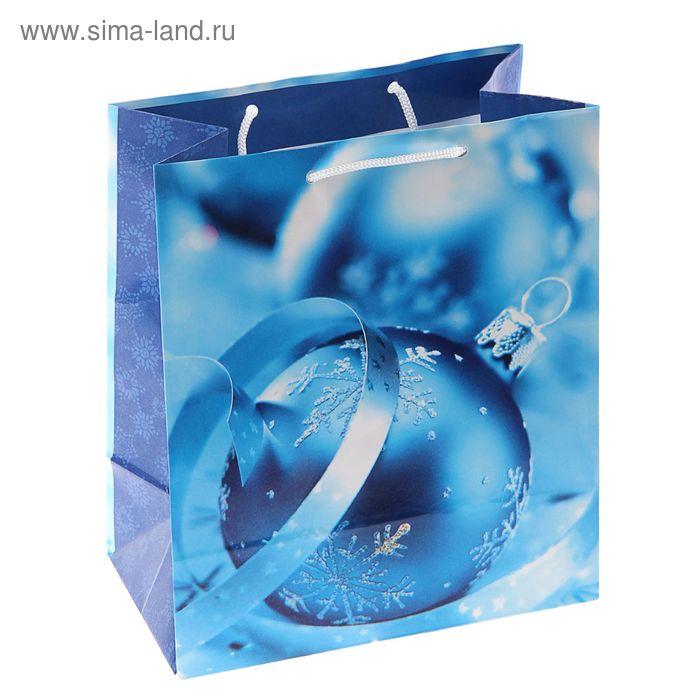 "Пакет подарочный ""Синий иней"", 36 х 26 х 11.5 см"