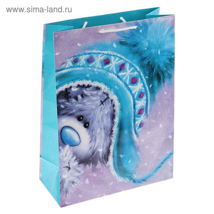 "Пакет подарочный ""Ку-ку мишка"", 36 х 26 х 11.5 см, Me to you"