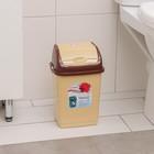 """Контейнер для мусора 4 л """"Камелия"""", цвет бежевый/коричневый - фото 4645519"""