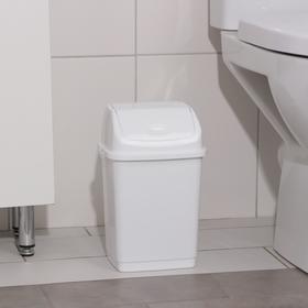 Контейнер для мусора «Камелия», 4 л, цвет белый