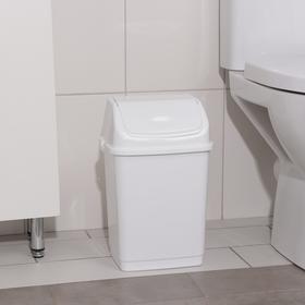 """Контейнер для мусора 8 л """"Камелия"""", цвет белый - фото 4645529"""