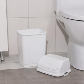 """Контейнер для мусора 8 л """"Камелия"""", цвет белый - фото 4645530"""