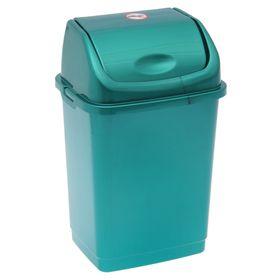 """Контейнер для мусора 8 л """"Камелия"""", цвет бирюзовый перламутр"""
