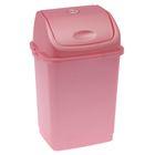 """Контейнер для мусора 8 л """"Камелия"""", цвет розовый перламутр"""