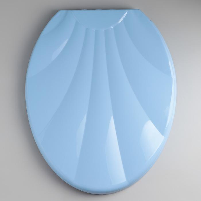 """Сиденье с крышкой для унитаза """"Ракушка"""", цвет голубой"""
