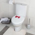 Сиденье для унитаза с крышкой «Комфорт Люкс», цвет бежевый/красный бантик - фото 4655791