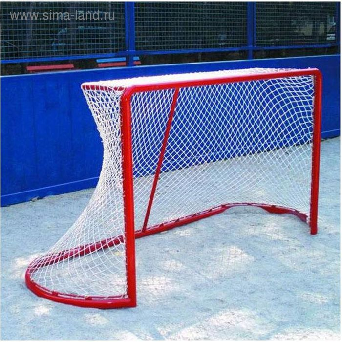 Сетка хоккейная, цвет белый, 1.85 х 1.25 х 0.6 х 1.2 м, нить 3 мм, ячейка 40 мм 3D (1 сетка)