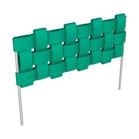 Ограждение декоративное, 98 × 38,5 см, Flox, 4 секции, зелёное