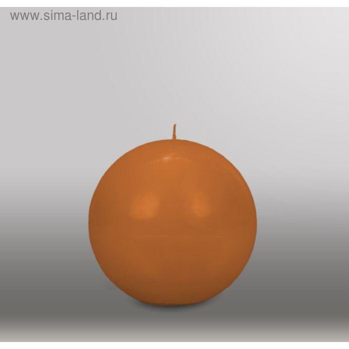 "Свеча шар ""Классика"", d=125мм,  коричневый"