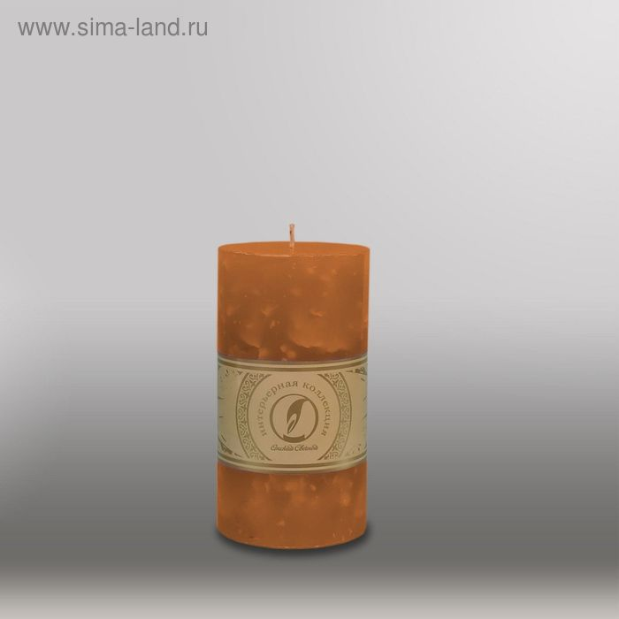 """Свеча цилиндр """"Мрамор"""", 80x150мм,  коричневый"""