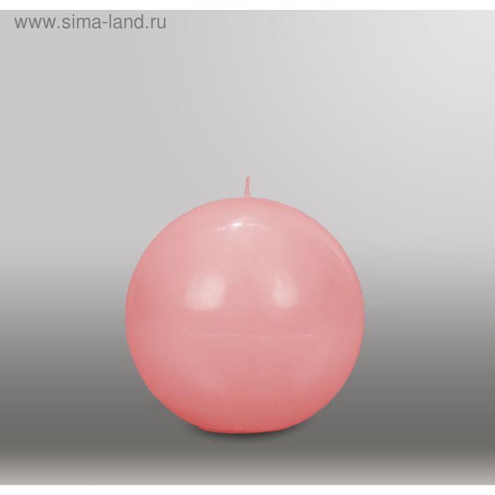 "Свеча шар ""Классика"", d=125мм,  розовый"
