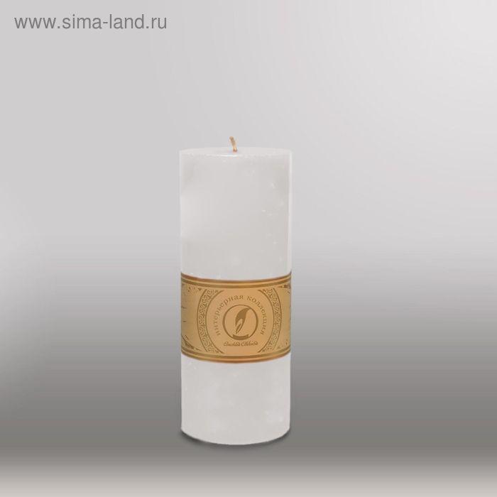 """Свеча цилиндр """"Мрамор"""", 80x200мм,  белый"""