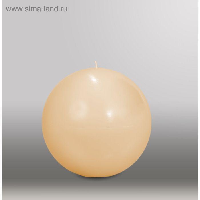 """Свеча шар """"Классика"""", d=150мм,  кремовый"""