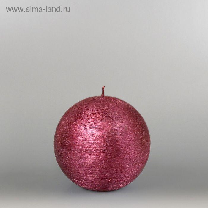 """Свеча шар """"Металлик"""", d=100мм,  рубин"""