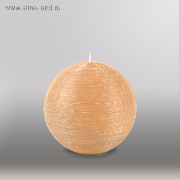"""Свеча шар """"Рельеф"""", d=125мм,  кремовый"""