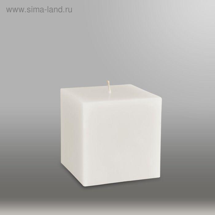 "Свеча куб ""Классика"", 75мм,  белый"