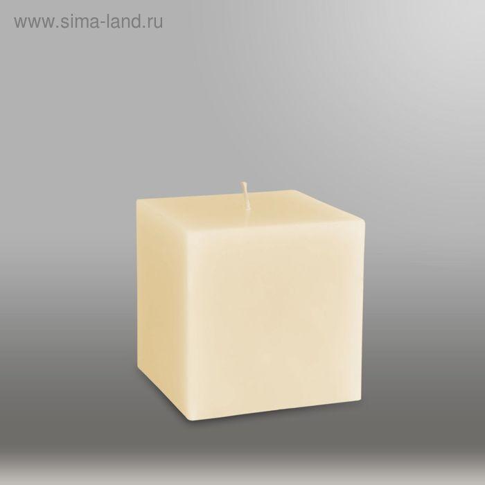 """Свеча куб """"Классика"""", 75мм,  кремовый"""