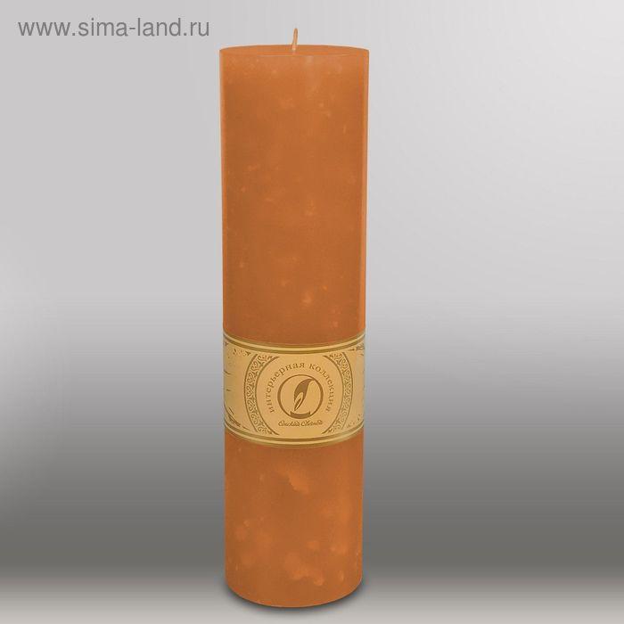 """Свеча цилиндр """"Мрамор"""", 80x305мм,  коричневый"""