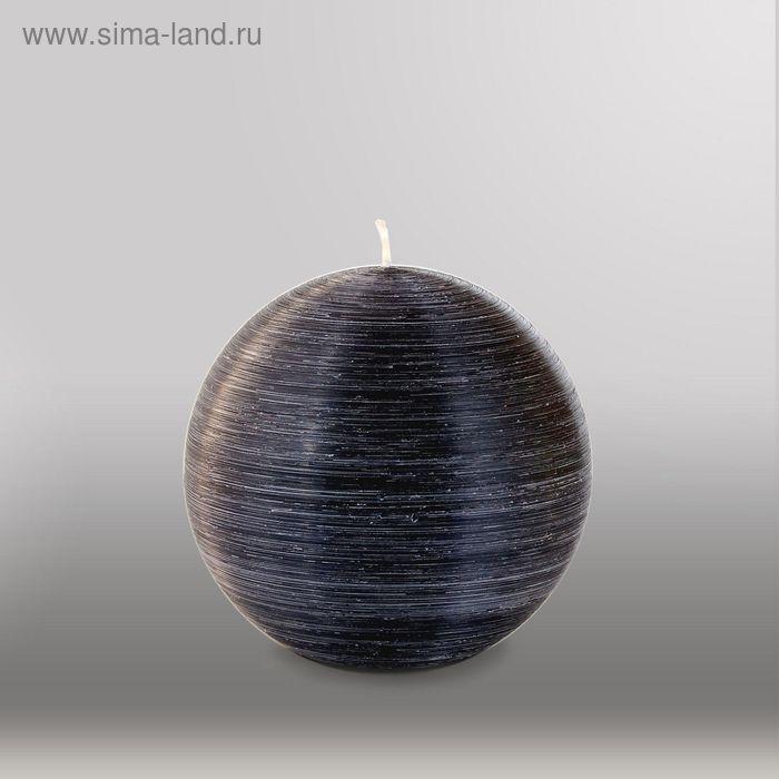 """Свеча шар """"Рельеф"""", d=125мм,  черный"""