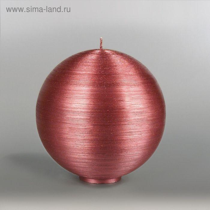 """Свеча шар """"Металлик"""", d=150мм,  рубин"""